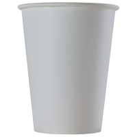 Стакан 300/350мл D=90 бумажный однослойный белый (900003)(х800) Россия