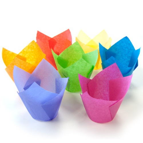 Тюльпан формы бумажные для маффинов